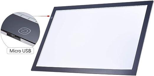 Mesa De Luz De Dibujo A2 Caja De Luz Led Almohadilla De Trazado De Dibujo Tablero De Copia Panel De Mesa Tablero De Copiado Con Función Continua Control De Brillo: Amazon.es: Hogar