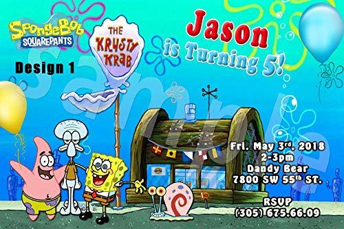 (Spongebob Squarepants Personalized Birthday Invitations More Designs Inside!)