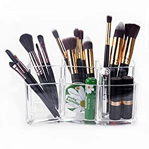 Makeup Brush Holder – Meersee Acrylic Makeup Organizers Cosmetic Brush Cylinder Clear