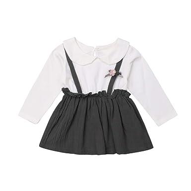 9d24b150af38 Amazon.com  Emmababy Newborn Baby Girl Suspender Skirt Dress ...