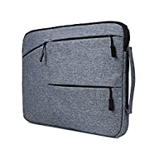 Laptop Sleeve 15.6 Inch, HAOCOO Polyester Fabric Laptop Sleeve Bag Briefcase Handbag Case Cover for Macbook Pro/Air/Computer/Asus/Notebook/Gaming Laptop/Lenovo/Acer Laptop/Chromebook etc. (15.6 inch, Dark Gray)