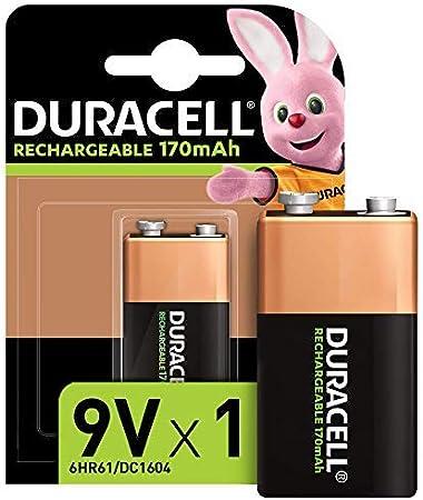 Duracell - Recharge Ultra 9V, pila recargable 170 mAh, 1 unidad