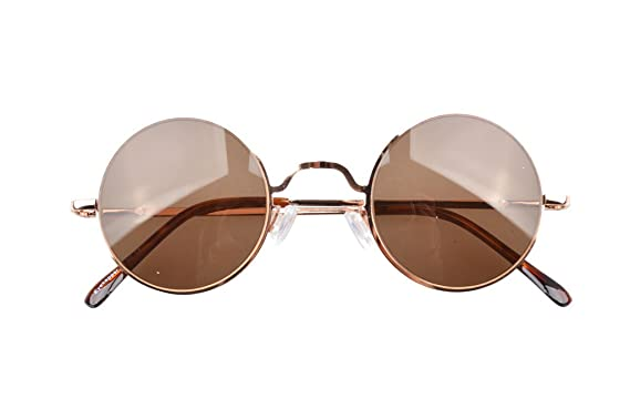 Eyekepper Federscharniere runde Sonnenbrille Braun Linse Gold Rahmen 0RxMgS