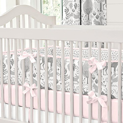 Carousel Designs Pink and Gray Woodland Crib Bumper by Carousel Designs (Image #7)