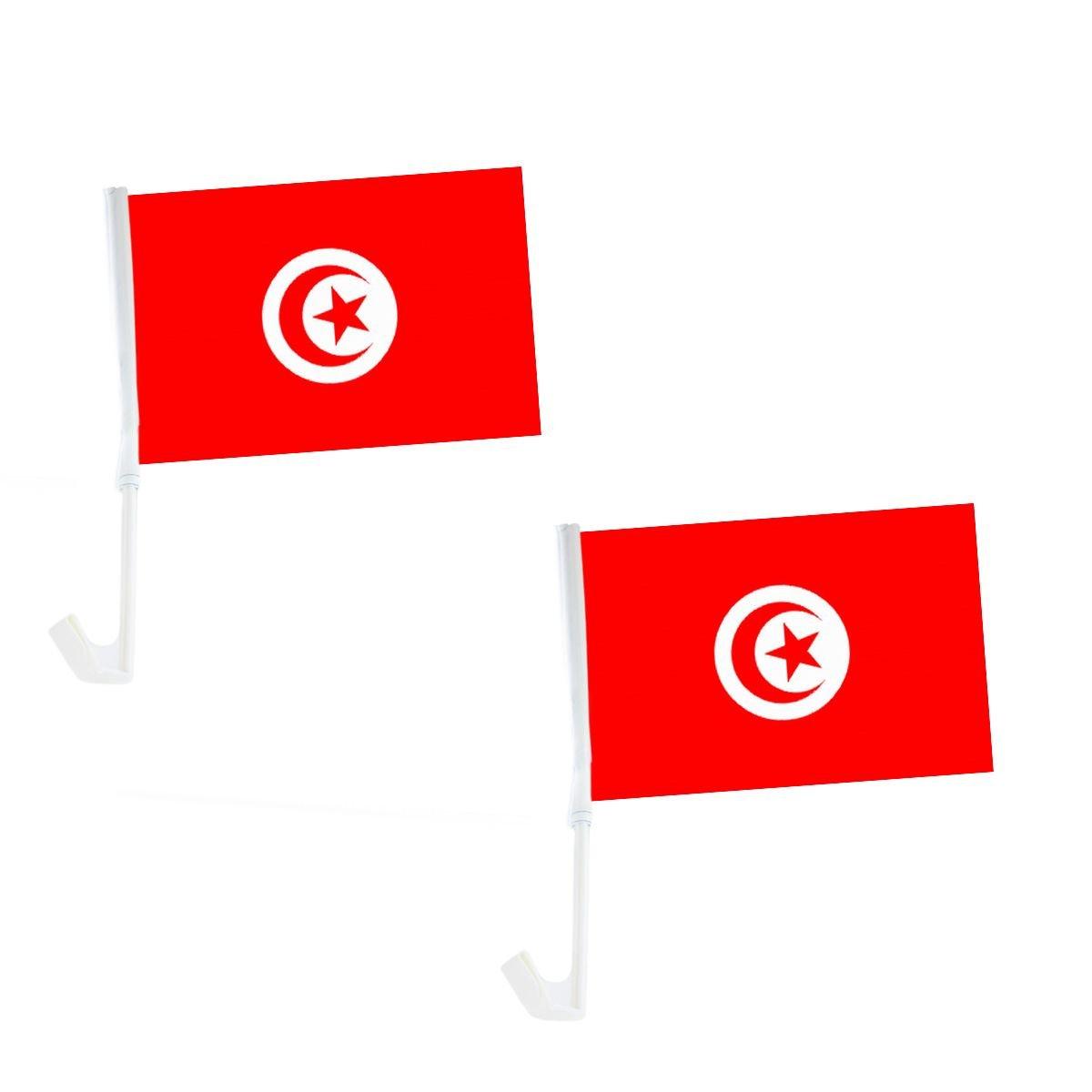 Sonia Originelli 2er Set Auto Flagge Fahne WM Lä nder Fuß ball Fan