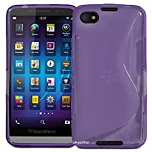 "5"" Blackberry Z30 Cover , Skypillar Canada Flexible Soft TPU Silicone Rubber Case - Purple"