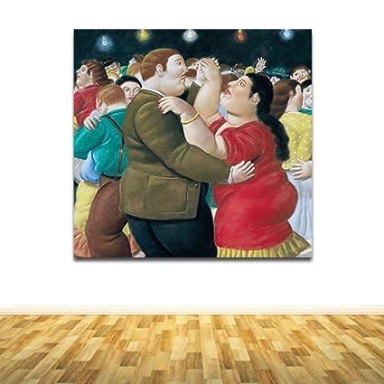 Quadri Famosi - Moderni Botero Ballerini Colorato - 80X76.5 Solo ...