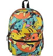 Nintendo Pokemon Boy's Allover Print School Backpack