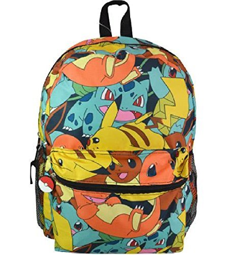 Nintendo Pokemon Boys Allover Print School Backpack Photo