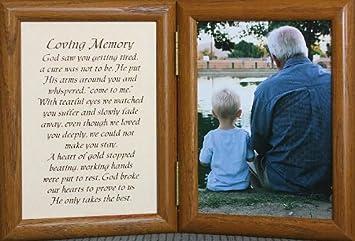 5x7 loving memory hinged frame memorial bereavementcondolencesympathyfuneral