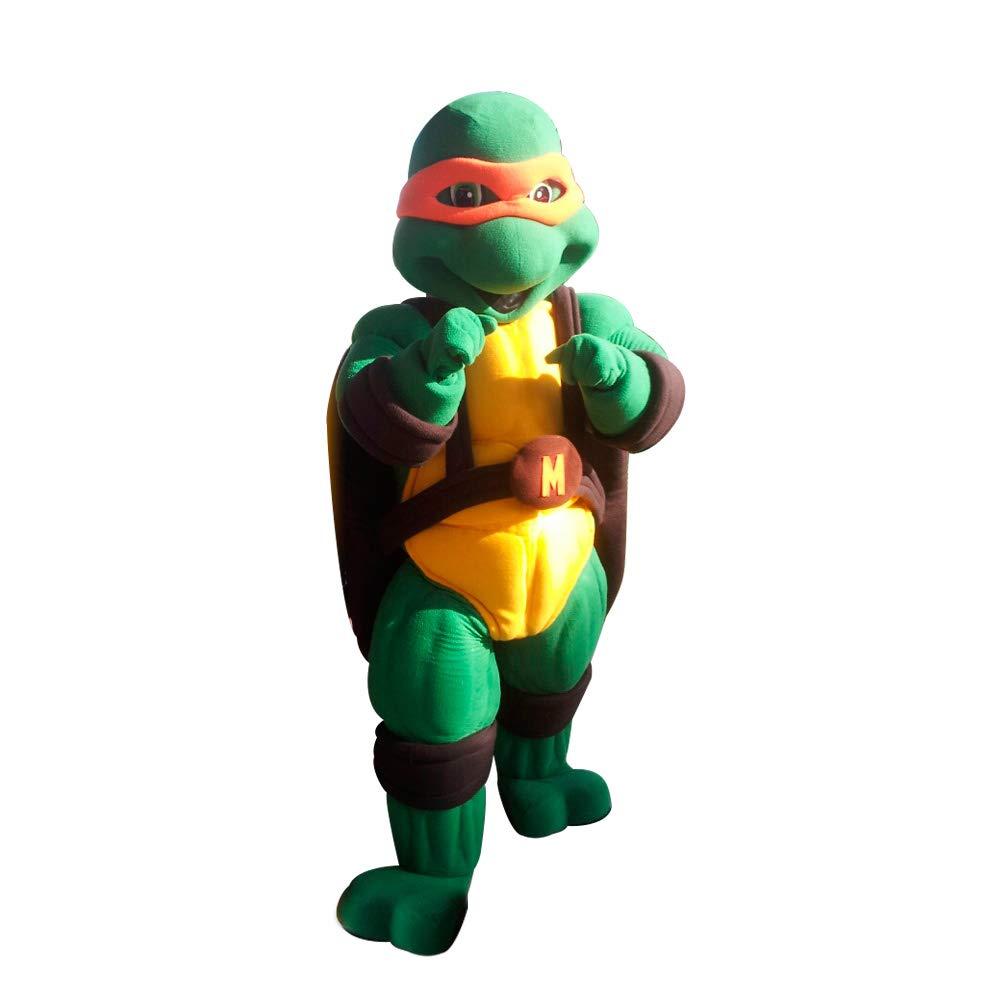 Amazon.com: Orange Ninja Turtle Michaelangelo Mascot Costume ...