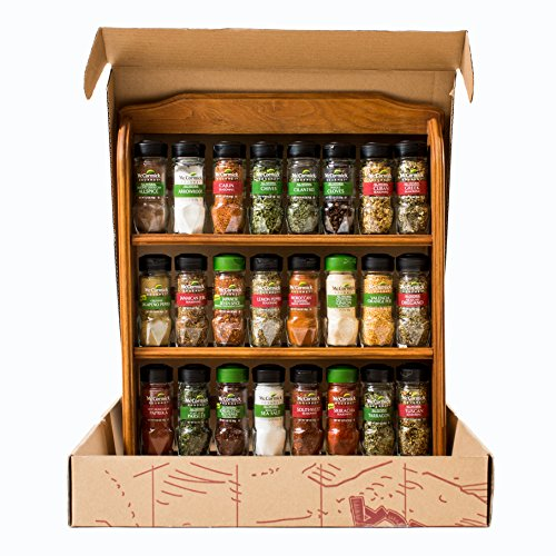 Mccormick Spice Rack: NEW McCormick Gourmet Spice Rack Three Tier Wood 24 Count