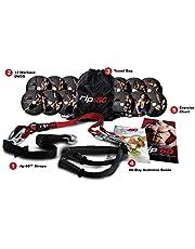 RIP 60 Slingtrainer Sling Trainer Bodyweight Fitness Resistance Straps Trainer 12 DVD's, oefenposter, oefendiagram en voedingshandleiding