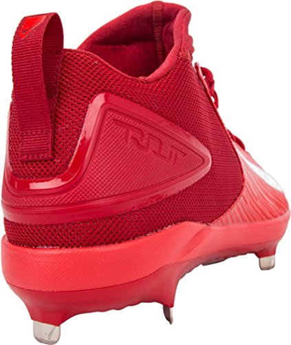 Nike Mens Forel 3 Pro Baseball Cleat Varsity Rood / Wit-licht Karmozijnrood