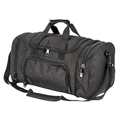 XWLSPORT Travel Sports Bag Hybrid Garment Duffel Bag Lightweight Travel Duffel Bag for Men and Women (Black)