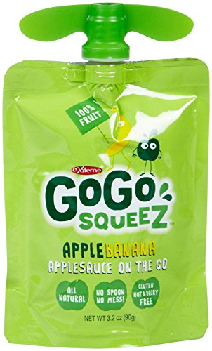 GoGo Squeez Apple Banana Applesauce on the Go, 4 ct by GoGo SqueeZ