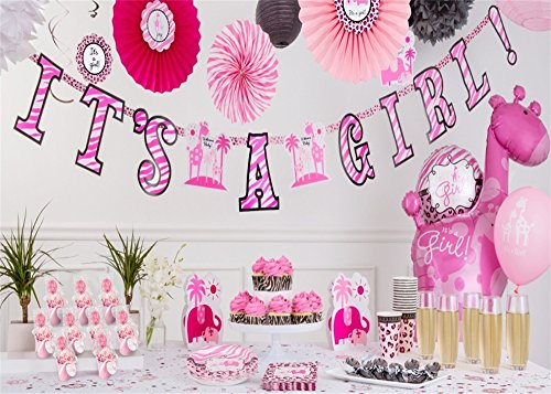 Leowefowa 7X5FT Sweet Baby Shower Backdrop It's a Girl Reindoor Paper Flowers Banner Backdrops for Photography Candy Cake Smash Vinyl Photo Background Princess Girls 1st Birthday Party Studio Props