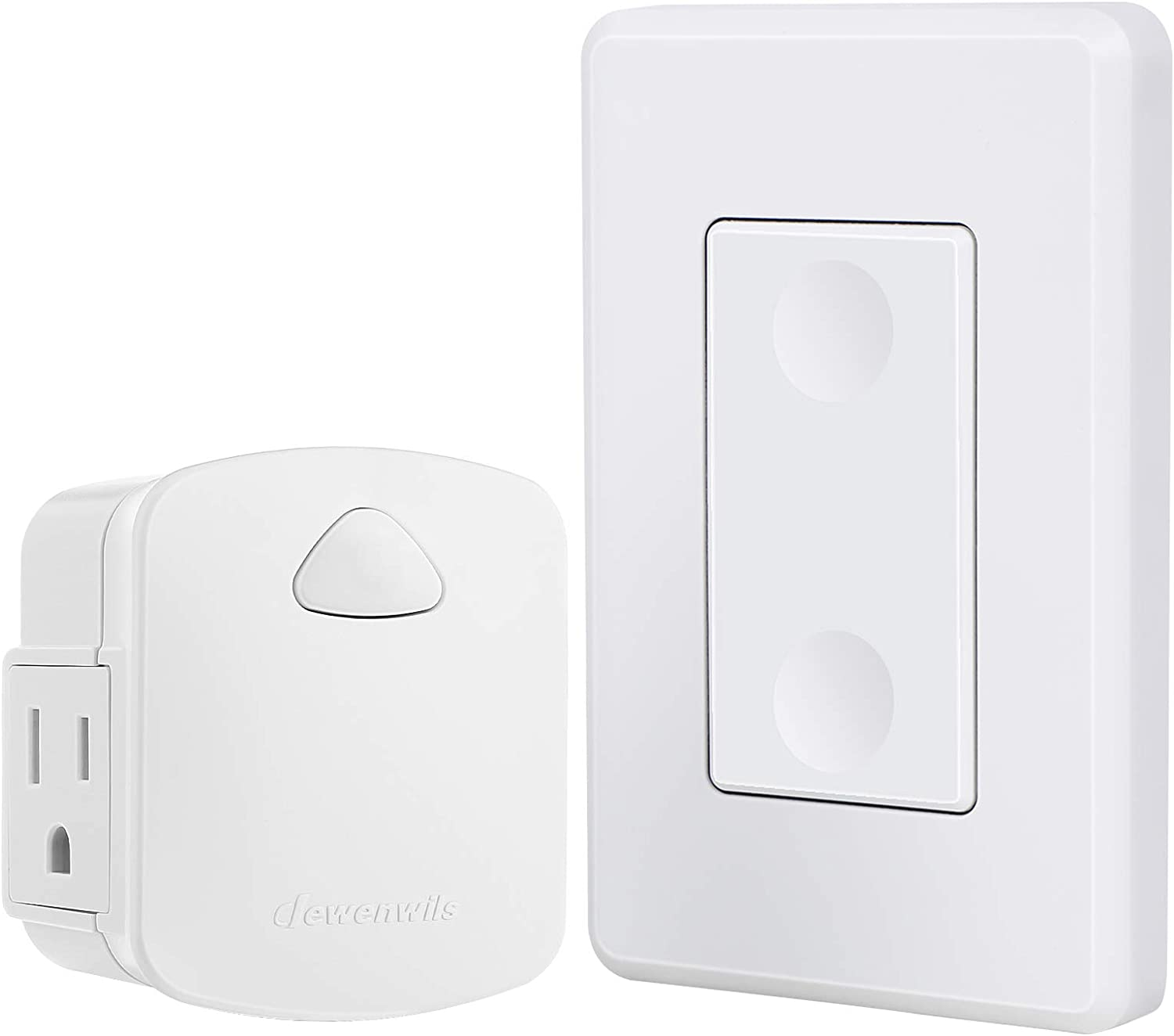 Dewenwils Wireless Light Switch Remote Control Outlet Remote Power Wall Switch For Lamps No Wiring Needed 15 Amp Heavy Duty 100 Feet Rf Range Compact Side Plug Amazon Com