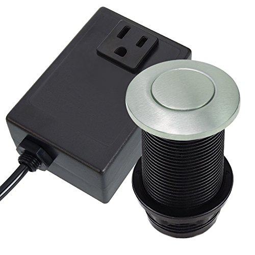 Wendhal WHL-1 Sink Counter Top Air Switch Kit for Garbage Disposals (Brushed Nickel) -