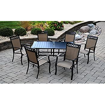 Amazon Com Portofino Comfort 7 Piece Seating Set In