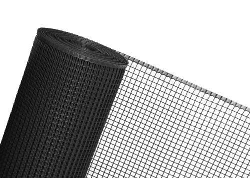 60m² MASCHENGEWEBE 1,2m x 50m Kunststoffzaun Baustellenzaun Geflügelzaun Hühnerzaun Gartenzaun Zaun Rankhilfe schwarz
