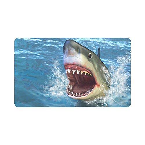 InterestPrint Shark Jumping Out of Water Anti-Slip Doormats Entrance Mat Floor Rug Indoor/Outdoor/Front Door Mats Home Decor, Rubber Backing 30