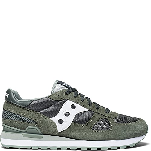 Saucony Originals Men's Shadow Original Running Shoe, Green/White, 13 Medium US