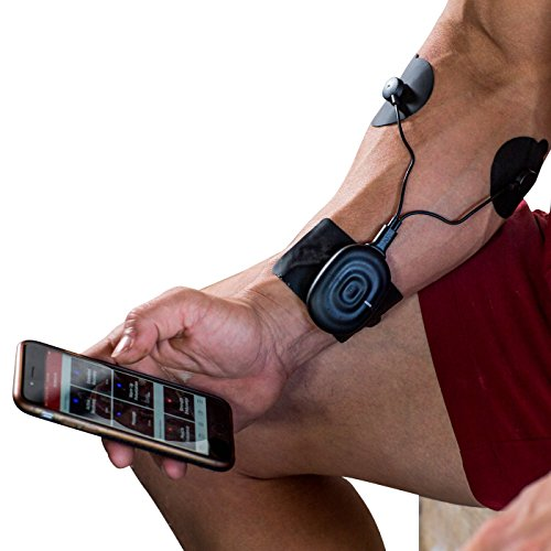 POWERDOT Wireless Muscle Stimulator - DUO - Black - Phone Controlled EMS for Targeted Muscle Training - Build Strength, Power, and Endurance - Speed Up Recovery Time - iPhone & Android Compatible by Powerdot
