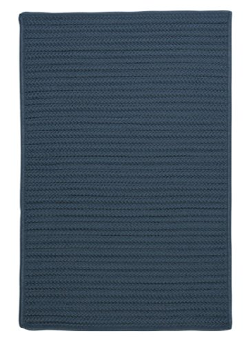 Simply Home Solid Lake Blue 3ft x 5ft