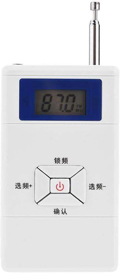 Transmisor inal/ámbrico Adaptador convertidor de Audio est/éreo FM Mini transmisor FM inal/ámbrico port/átil para el hogar//autom/óvil//aulas//auditorios//dormitorios//plazas Ccylez Transmisor