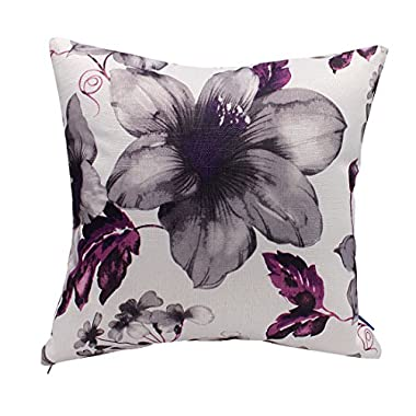 Better Life Cushion Pillow Cover, 18-Inch-by-18-Inch, Purple