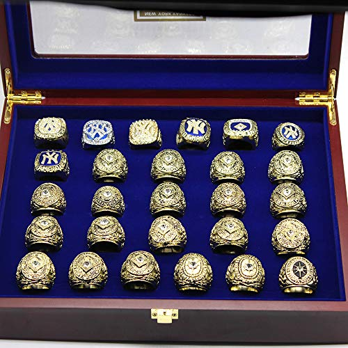 - Buy American NY Custom Made to Order Yankees 27 World Series Replica Ring Set with Display Box Not China Fakes