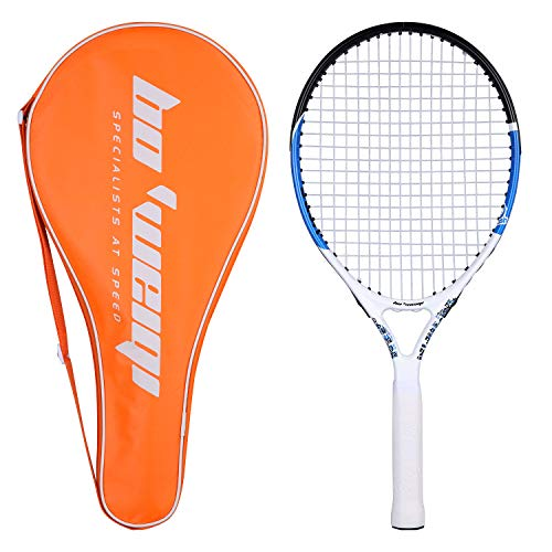 Fostoy Junior Tennis Racket, Tennis Racquet Kids Racket with Storage Bag Perfect for Boys&Girls Sports Training 21.6 inch (Blue) ()