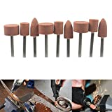 Carving Expert 9pcs Abrasive Mounted Stone For Dremel Rotary Tools Grinding Stone Wheel Head Dremel Accessories 1/8 Inch Shank