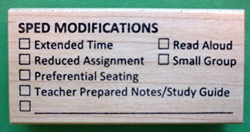 SPED Modifications Teacher's Rubber Stamp