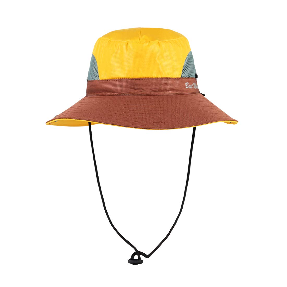 SIYWINA Herren Sonnenhut Safari Hut UV Schutz Sommer Outdoor Faltbar Fischerhut