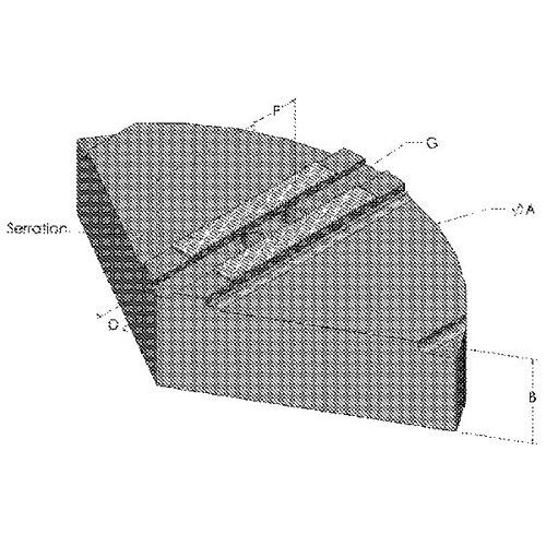 ABBOTT 1.5mm x 60176; Serrated Pie Jaws - Style Q - Model : KTT10P Chuck Size: 10