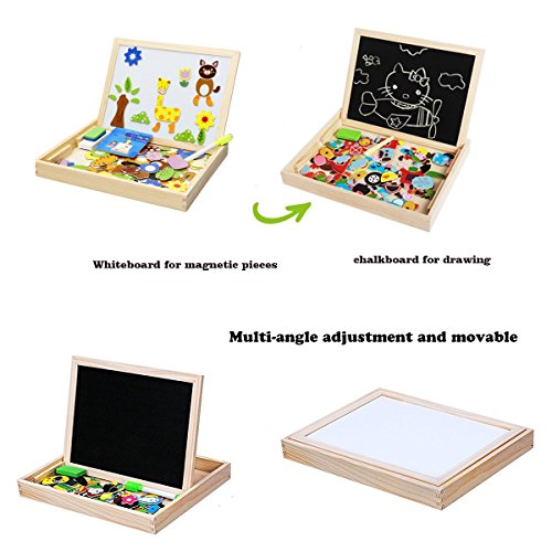 Wondertoys Magnetic Puzzle Art Easel Board Games with Dry Erase Educational Toys for Children by Wondertoys (Image #3)