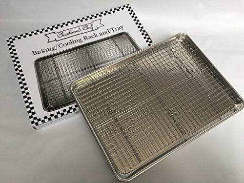 Checkered Chef Half Sheet Pan And Rack Set Aluminum
