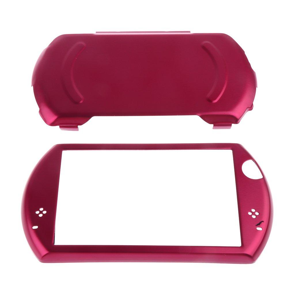 Sharplace Funda Piel Cubierta Protectora Estuche Antideslizante Accesorios para Sony PSP GO - Rojo