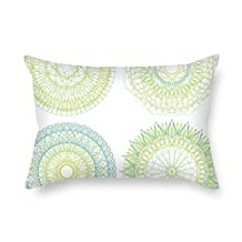 20 X 26 Inches / 50 By 65 Cm Circle Cushion Covers Both Sides Is Fit For Home Office Seat Kids Girls Him Chair Kitchen