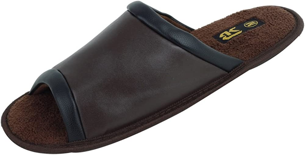 Sunville New Starbay Brand Mens PU Slide Slippers Available in 6 Colors