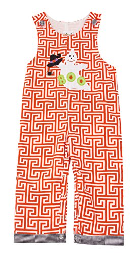 Greek Outfits For Boys (Babeeni Rompers for Baby Boy featured with a With Hat and Boo in Orange Key Greek Patterns for Halloween Ocassion (3Y))