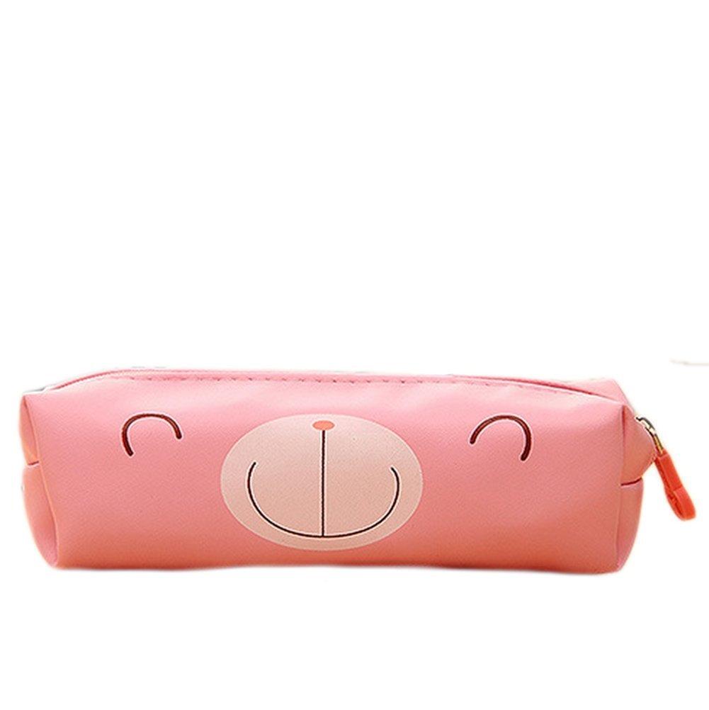 Cosanter matita borsa custodia in ecopelle con motivo orsetto cosmetici occhiali borsa per le donne Teen Girls