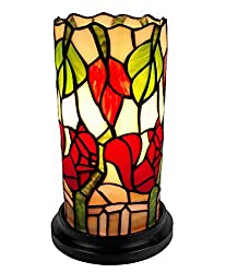 Amora Lighting AM092ACC Tiffany Style Floral Mini Table Lamp 10 Inches Tall