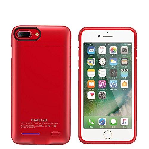 YiYunTE Funda Batería iPhone 7 Plus Case Carcasa Con Batería Cargador-batería Externa Recargable 4300mAh Para iPhone 7 Plus/6S Plus/6 Plus (Rejo) Rejo
