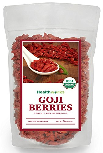 Healthworks Goji Berries Raw Organic, 8oz