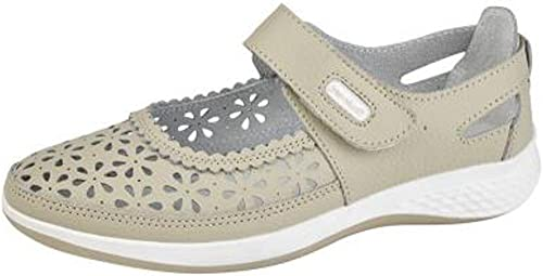 Womens Leather Wide EEE FIT Velcro