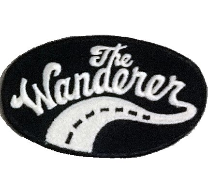 The wanderer Street Highway Motorcycles Camping Iron on Patch Badge