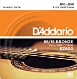 D'Addario EZ900 85/15 Bronze Great American Extra Light Acoustic Guitar Strings